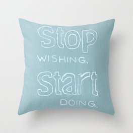 Start Doing - HEATHER Throw Pillow