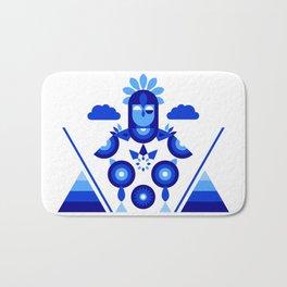 Libra in Blue Bath Mat