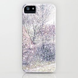 Snow in early fall(2). iPhone Case