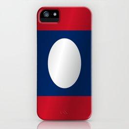 Flag of Laos iPhone Case