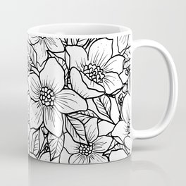 Illustrated Flowers Coffee Mug