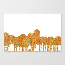 Albuquerque, New Mexico Skyline - Rust Canvas Print