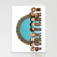stargate Stationery Cards featuring Cast of Stargate Atlantis by Ravenno