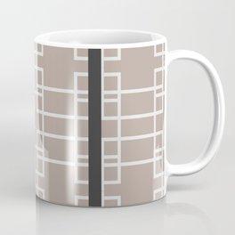 Midcentury Modern Geometric Light Brown Coffee Mug