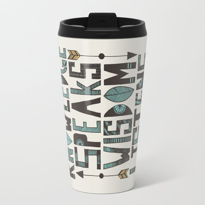 Knowledge Speaks Travel Mug