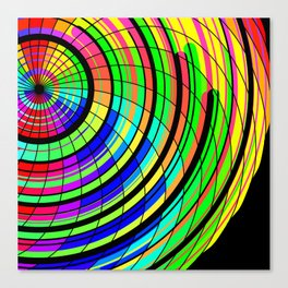 Color Whirl Canvas Print