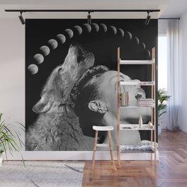Howlin' Billie - Collage Art - Wolf Full Moon Billie Holiday Wall Mural