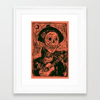 calavera Framed Art Prints featuring calavera  by MC2205