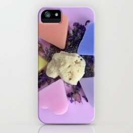 color soap rose and natural spon iPhone Case
