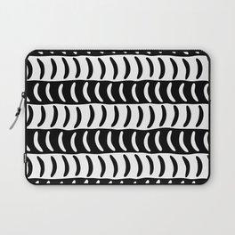 Wavy Stripes Black and White 2 Laptop Sleeve