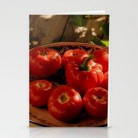 vegetables Stationery Cards featuring Red vegetables by Svetlana Korneliuk