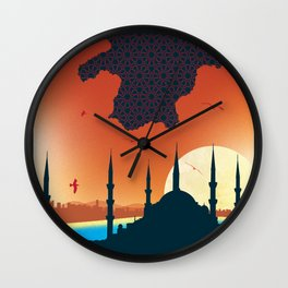Istanbul Graphic - Rectangle Wall Clock