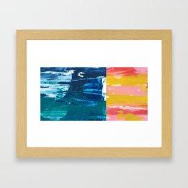 Desert Abstraction Framed Art Print