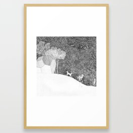 polyhedric ride Framed Art Print