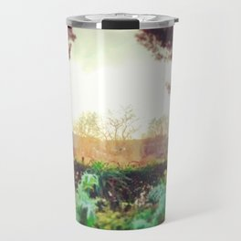 Instagram Summer Garden Irish Landscape Green and Amber Photography Print Travel Mug