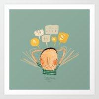lucas david Art Prints featuring Lucas by Nacho Z. Huizar