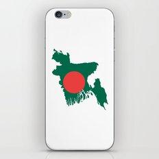 Bangladesh flag map iPhone & iPod Skin