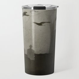 Gothic Crows Eerie Ceremony Travel Mug