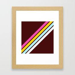 80's Style Retro Stripes Framed Art Print
