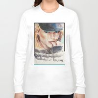 emma stone Long Sleeve T-shirts featuring Emma Stone, blonde by xDontStopMeNow