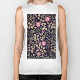 William Morris Sweet Briar Floral Art Nouveau Biker Tank