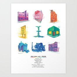 NYC Pride (with Title) Art Print