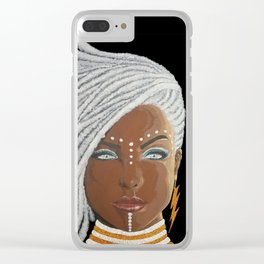 African Goddess Clear iPhone Case