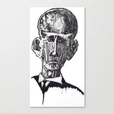 Old man woodblock Canvas Print