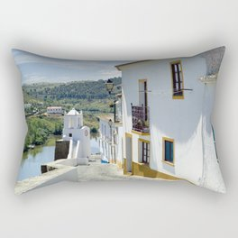 Narrow cobbled Alentejo street in Portugal Rectangular Pillow
