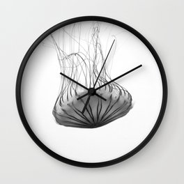Black and White Jellyfish Wall Clock