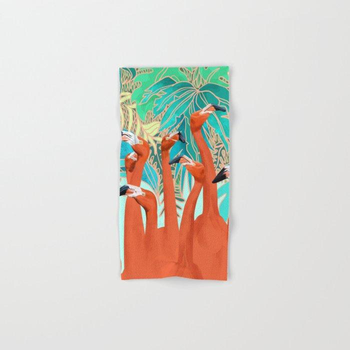Flamingo Party Hand & Bath Towel