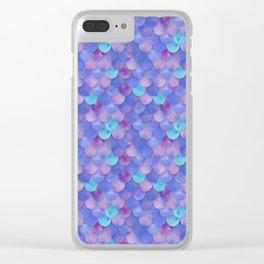 Purple Mermaid Scales Clear iPhone Case