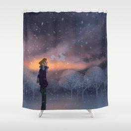 Ten Thousand Snowflakes Shower Curtain