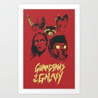 guardians of the galaxy Art Prints featuring Guardians by Perry Misloski