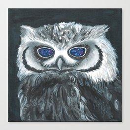 Black Owl Canvas Print