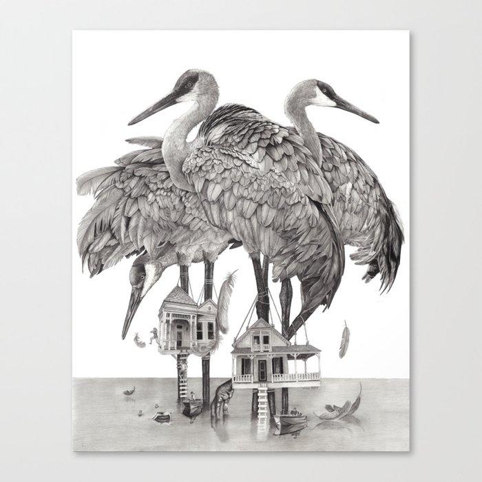 Birdhouses Canvas Print