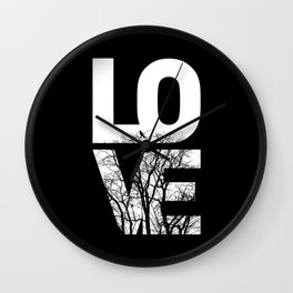 LOVE NO2 Wall Clock