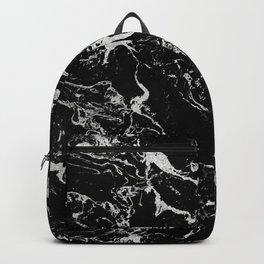 Modern silver black marble pattern Backpack