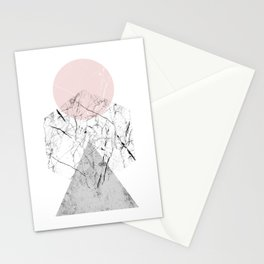 Marble Hexagon Stationery Cards