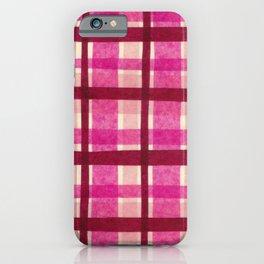 Tissue Paper Plaid - Pink iPhone Case