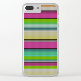Mexican serape #9 Clear iPhone Case