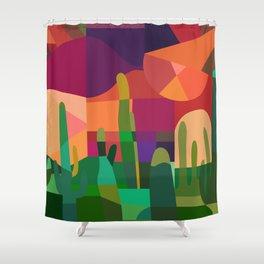 Botanical Wonderland - Cactus Garden Bybrije Shower Curtain