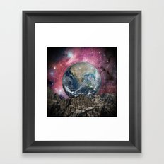 A Place In Space Framed Art Print