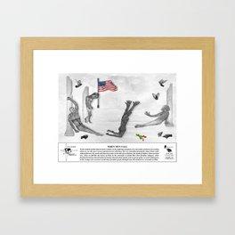 When Men Fall Framed Art Print