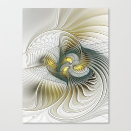 Noble And Golden, Abstract Modern Fractal Art Canvas Print