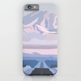 On the way to snowy mountain, minimalism in nature. iPhone Case