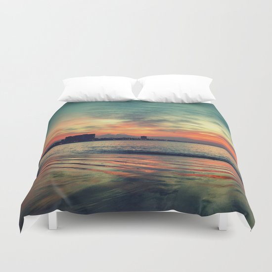 In Beetween Night & Day Duvet Cover