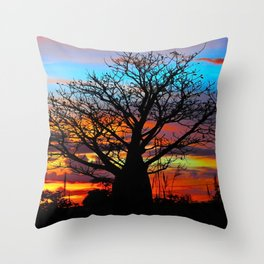 Candy Coloured Boab Throw Pillow