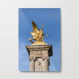 Statue on Pont Alexandre III - Paris Metal Print