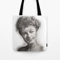 laura palmer Tote Bags featuring TWIN PEAKS - LAURA PALMER by William Wong